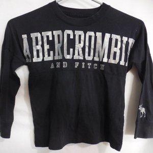 ABERCROMBIE KIDS, 5-6, black long sleeve shirt GUC